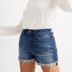 Madewell high rise cutoff shorts